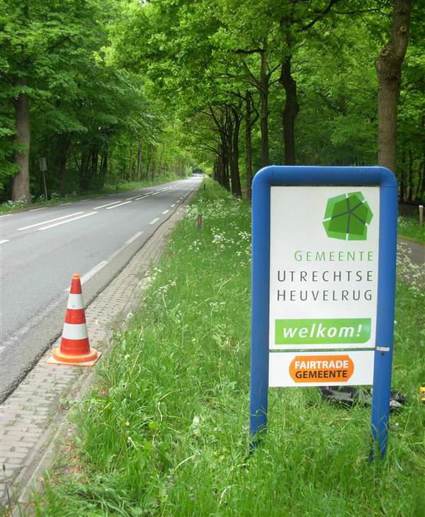 fairtrade gemeente Utrechtse Heuvelrug entree